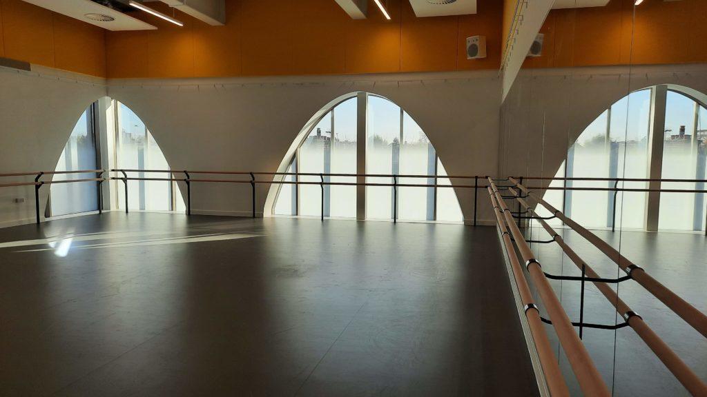ArtsEd New Build 2020: Dance Studio other angle